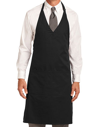 PO-A704-Unisex Easy Care Tuxedo Apron with Stain Release