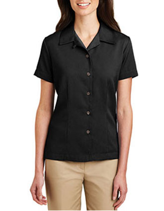 PO-L535-Womens Easy Care Camp Shirt