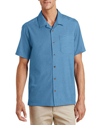 PO-S662-Port Authority Unisex Textured Camp Shirt