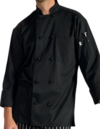 UN-0403-Uncommon Threads Men's Classic Knot Chef Coat