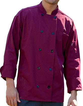 UN-0405-Uncommon Threads Men's White Moroccan Chef Coat