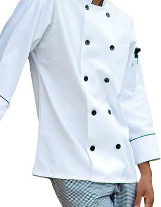 UN-0407-Uncommon Threads Men's White Madrid Chef Coat