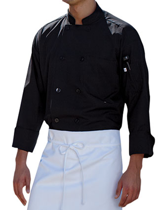 UN-0413-Unisex Classic Poplin Long Sleeve Chef Coat