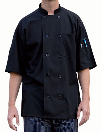 UN-0421-Uncommon Threads Men's Short Sleeves Delray Chef Coat