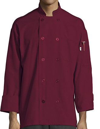 UN-0422P-Men Powerhouse W/Mesh Chef Coat
