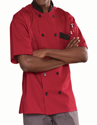 UN-0423-Unisex Classic South Beach Chef Coat  with Trim