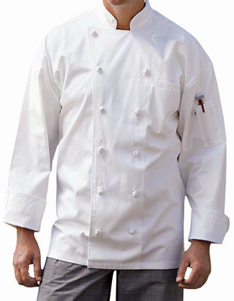 UN-0425C-Unisex Full Cotton Executive Chef Coat