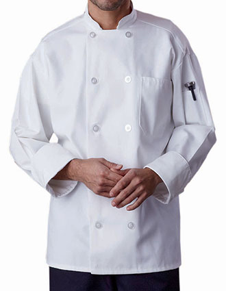 UN-0426-Uncommon Threads Men's Classic with Mesh Chef Coat