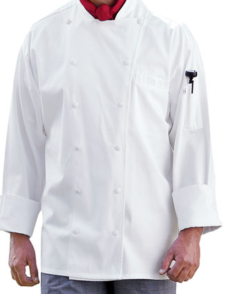 UN-0440C-Uncommon Threads Men's White Palermo Chef Coat