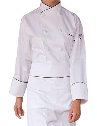 UN-0445C-Uncommon Threads Women's White San Marco Chef Coat