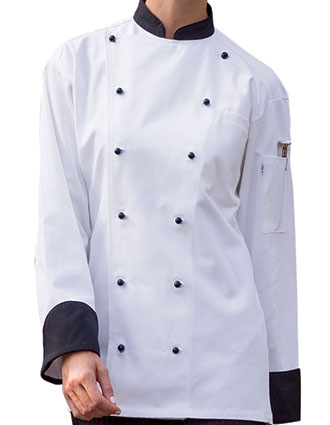 UN-0448C-Uncommon Threads Women's White Rialto Chef Coat