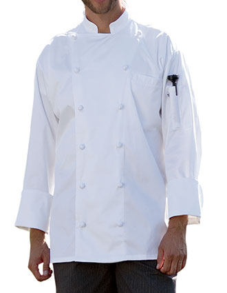 UN-0451EC-Uncommon Threads Men's White Master Chef Coat