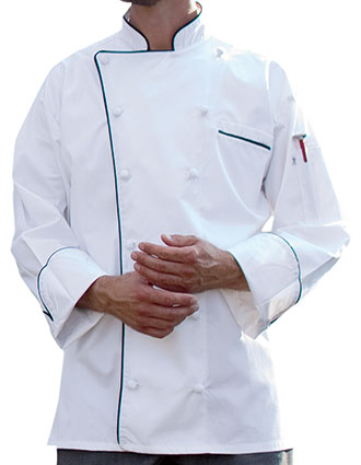 UN-0453EC-Uncommon Threads Men's White Versailles Chef Coat