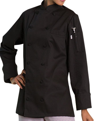 UN-0470C-Uncommon Threads Women's Novona Executive Chef Coat