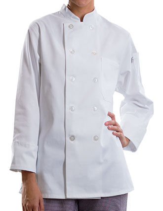 UN-0475-Uncommon Threads Women's Flared Bottom Napa Chef Coat