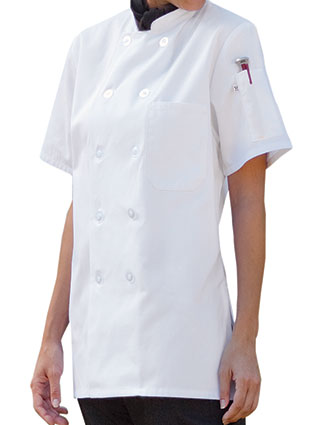 UN-0478-Uncommon Threads Women's Short Sleeves Chef Coat