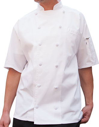 UN-0480-Uncommon Threads Men's Short Sleeve Aruba Chef Coat