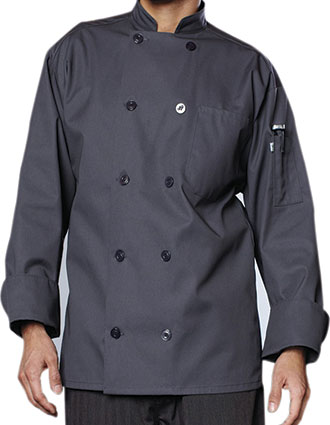 UN-0488-Unisex Orleans Long Sleeve Chef Coat