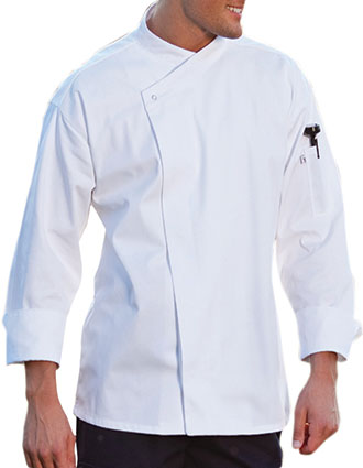 UN-0489-Unisex Santorini Snap Button Chef Coat