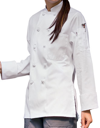 UN-0490-Uncommon Threads Women's Curvy Silhouette Sedona Chef Coat
