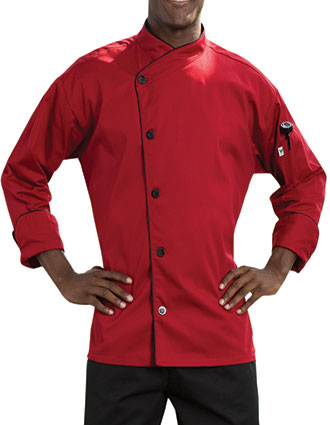 UN-0491-Uncommon Threads Women's No-Pocket Panama Chef Coat