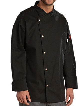 UN-0492-Uncommon Threads Unisex Crossover Collar Caliente Chef Coat