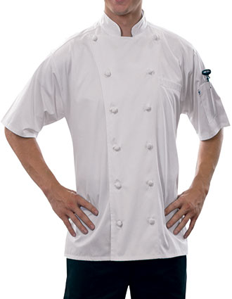 UN-0493EC-Uncommon Threads Men's White Short Sleeve Master Chef