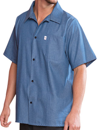 UN-0920c-Uncommon Threads Men's Chambray Classic Shirt