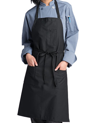 UN-3004-Unisex Pencil Patch-Pocket Bib Apron