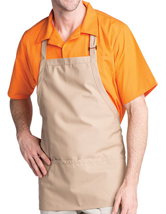 UN-3011-Unisex Adjustable Bib Three-Pocket Apron