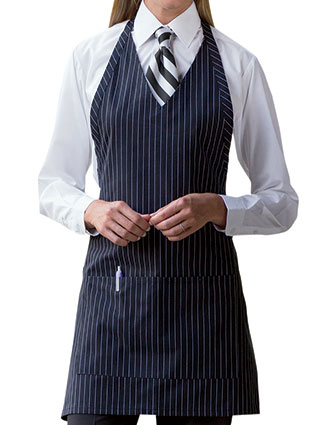 UN-3041-Uncommon Threads Unisex Formal V-Neck Bib Apron