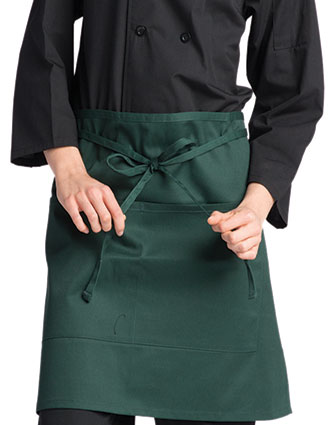 UN-3056-Unisex Half-waist Two-section Pockets Apron