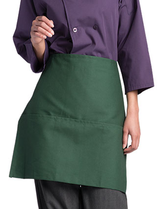 UN-3060-Unisex Half-Waist Three-Pocket Apron