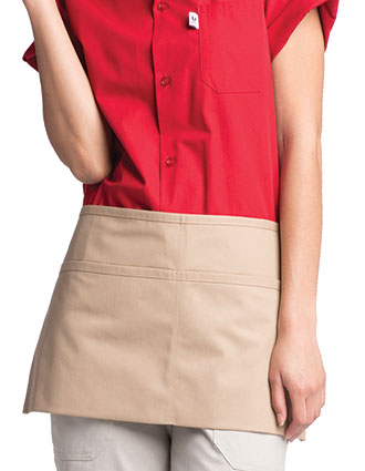 UN-3065-Unisex Waist Two-Section Pocket Apron