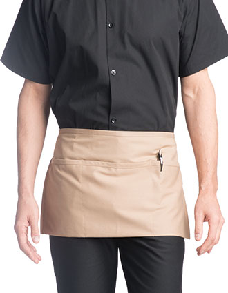 UN-3067-Unisex Waist Three-Section Pocket Apron