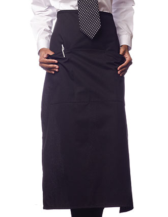 UN-3100-Uncommon Threads Unisex Three-Section Pocket Bistro Apron