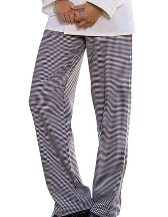 UN-4005C-Uncommon Threads Men's Elastic Waist Classic Baggy Chef Pant