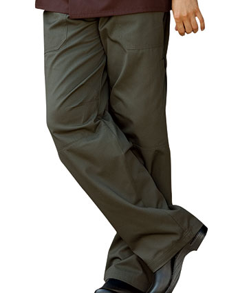 UN-4102-Uncommon Threads Women's Elastic Waist Grunge Cargo Chef Pant