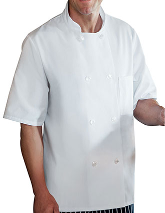WH-18001-Unisex Short Sleeve Chef Jacket