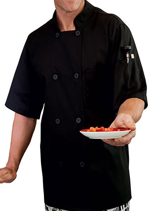 WH-18011-Mens Moisture Wicking Mesh Back Chef Coat