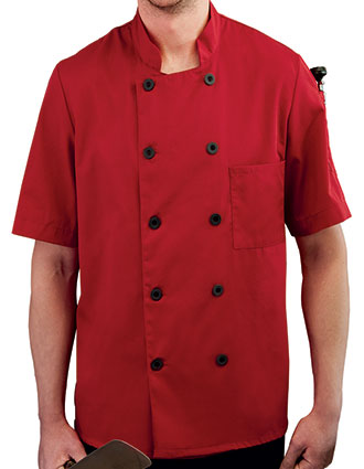 WH-18025-Five Star Unisex Short Sleeve Chef Coat