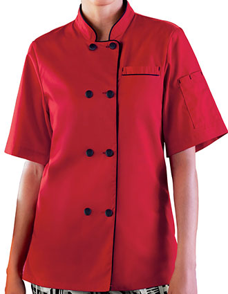 WH-18028-Five Star Women's Short Sleeve Executive Coat