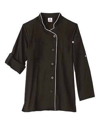 WH-18504-Five Star Ladies Long Sleeve Stretch Executive Chef Coat