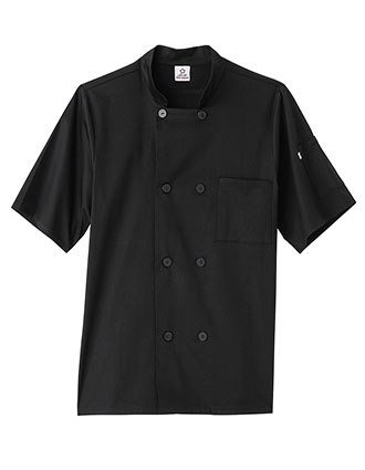 WH-18516-Five Star Unisex Short Sleeve Stretch Executive Chef Coat