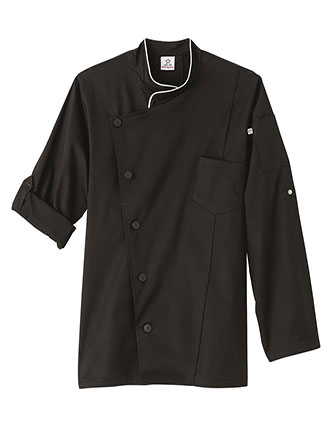 WH-18535-Five Star Unisex Long Sleeve Stretch Executive Chef Coat